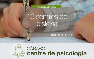 10 señales de dislexia